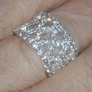 Jewelry - **SALE**$5 OFF**X Pattern CZ Fashion Ring 6